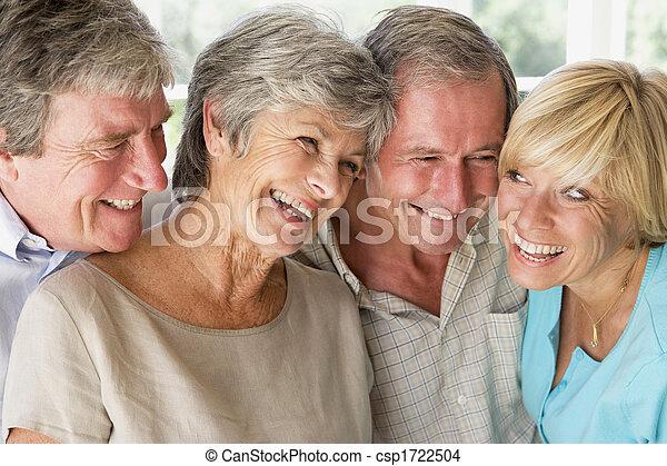 couples, sorridente, dentro, due - csp1722504