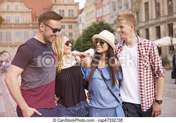 couples, ville, deux, visiter - csp47332738