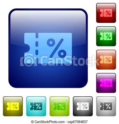 Coupon color square buttons - csp67084837