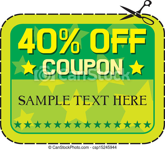 coupon sale 40 forty percent discount discount label eps rh canstockphoto ie coupon clip art free clipart coupon design