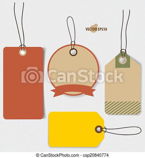 coupon, style, vendange, coût, vente, voucher., conception, gabarit, v, étiquette - csp20840774