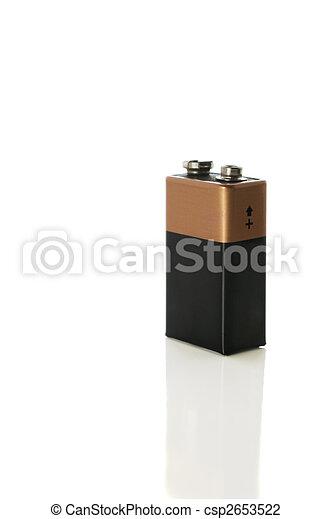 coupure, batterie, volt, 9, sentier, blanc - csp2653522