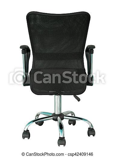 revendeur ba93f f19df coupure, bureau, dos, isolé, noir, sentier, chaise, blanc, vue