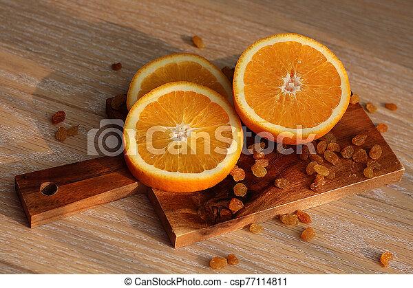coupure, planche, orange, découpage - csp77114811