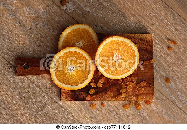 coupure, planche, orange, découpage - csp77114812
