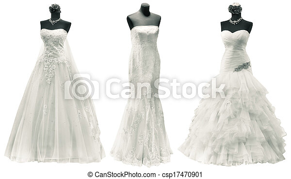 coupure, robes, mariage - csp17470901