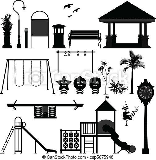 cour de récréation, parc, enfants, jardin - csp5675948