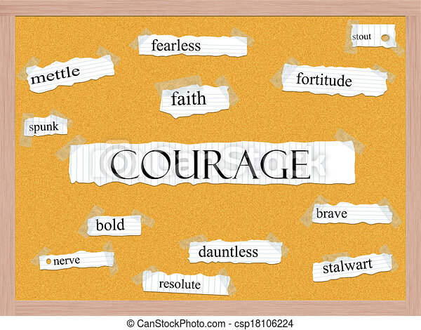 Courage Corkboard Word Concept - csp18106224