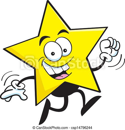 courant, étoile, dessin animé - csp14796244