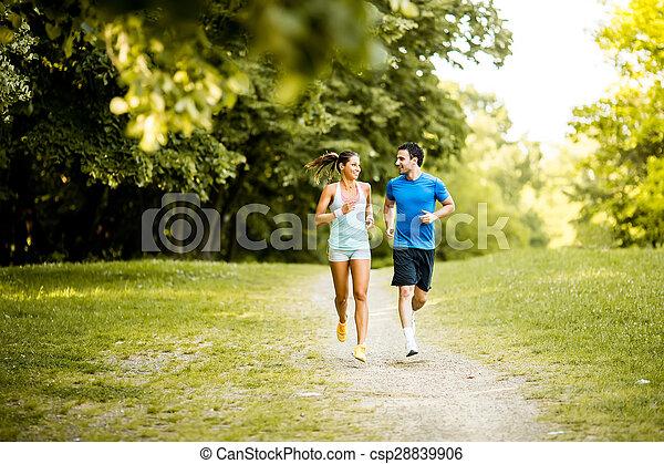 courant, couple, jeune - csp28839906