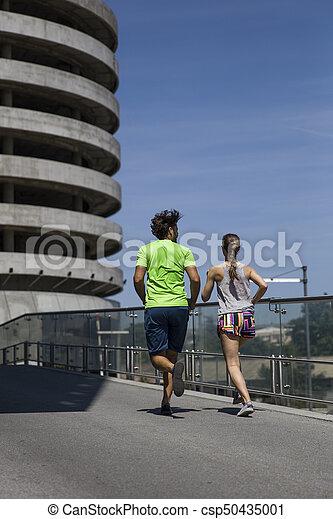 courant, couple, jeune - csp50435001