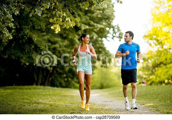 courant, couple, jeune - csp28709569