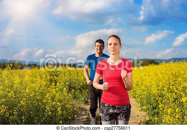 courant, couple, jeune - csp27756611