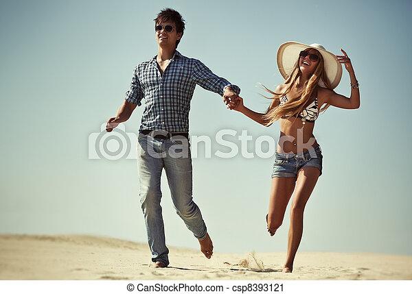 courant, couple, jeune - csp8393121