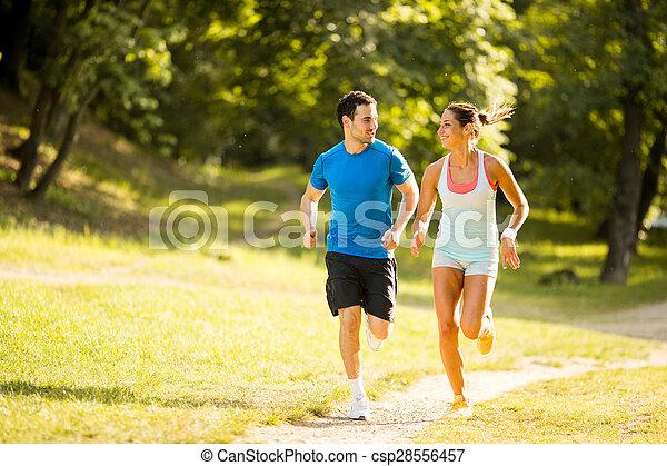 courant, couple, jeune - csp28556457
