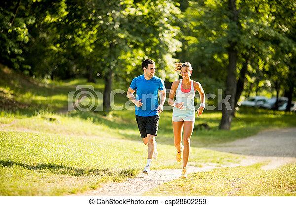 courant, couple, jeune - csp28602259