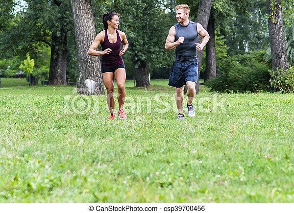 courant, couple, jeune - csp39700456