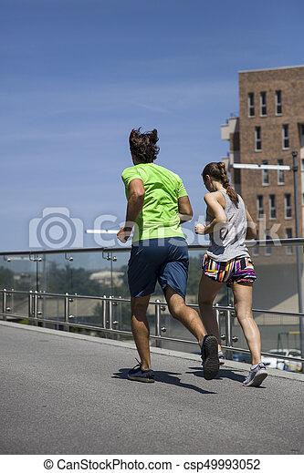 courant, couple, jeune - csp49993052