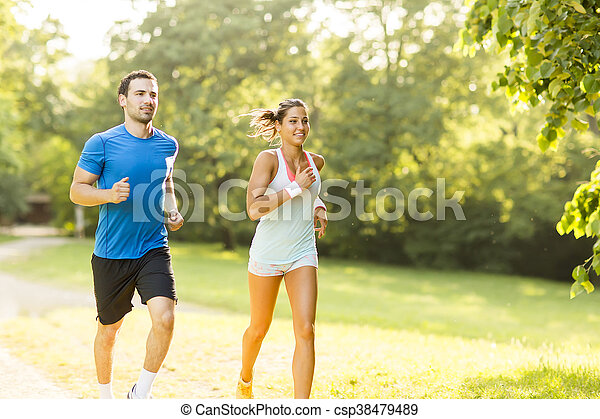 courant, couple, jeune - csp38479489