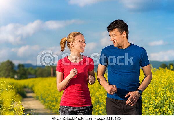 courant, couple, jeune - csp28048122