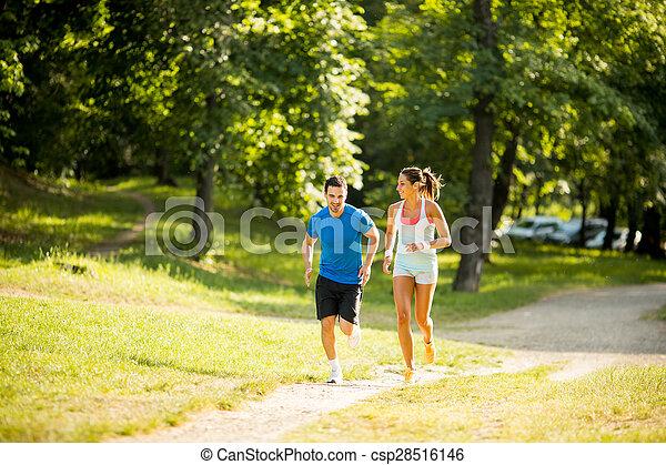 courant, couple, jeune - csp28516146