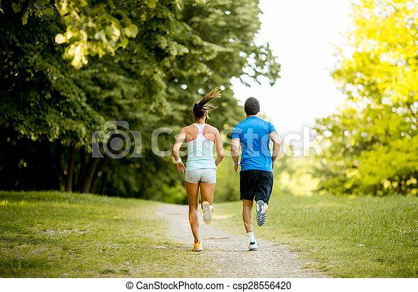 courant, couple, jeune - csp28556420