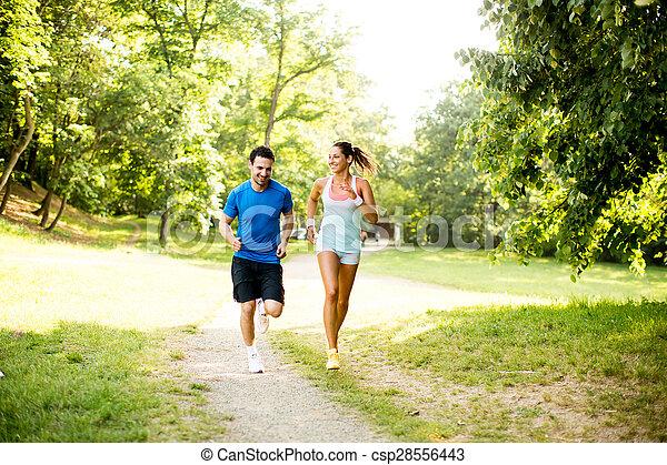 courant, couple, jeune - csp28556443