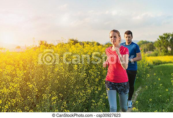 courant, couple, jeune - csp30927623