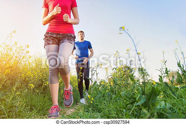 courant, couple, jeune - csp30927594