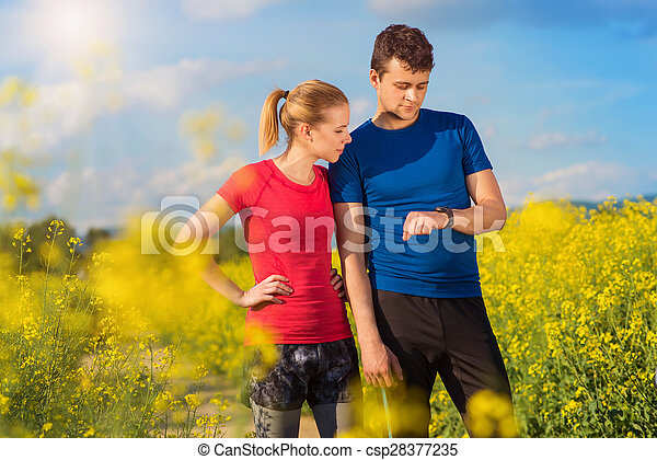 courant, couple, jeune - csp28377235