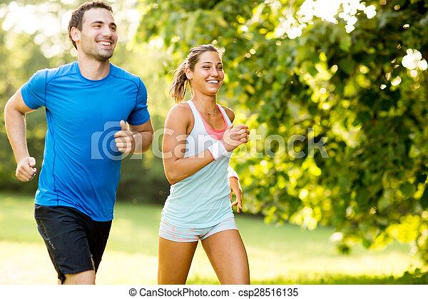 courant, couple, jeune - csp28516135