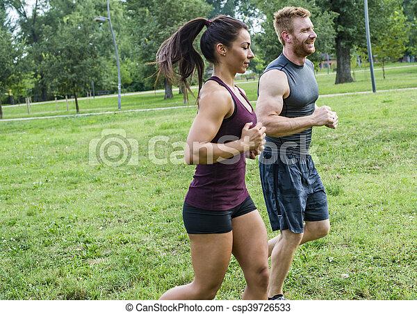 courant, couple, jeune - csp39726533