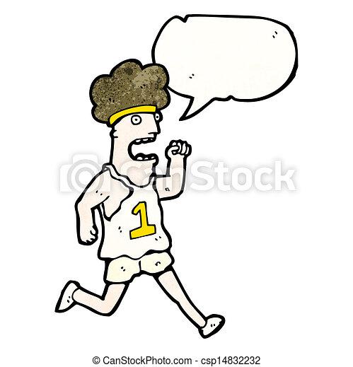 Vecteurs de coureur dessin anim marathon fatigu csp14832232 rechercher des clip arts des - Coureur dessin ...