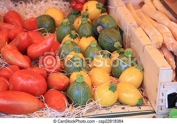 Courgettes and tomatoes - csp22818384