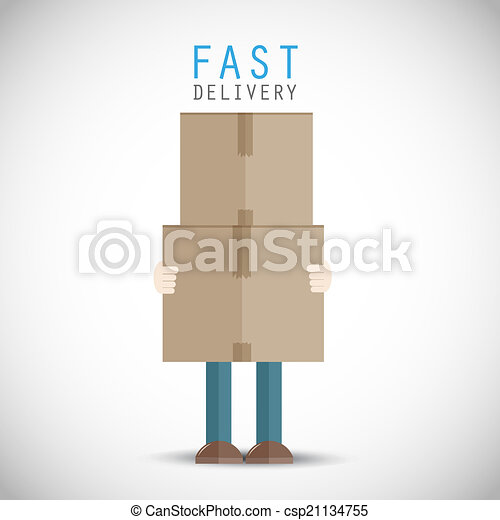 Courier delivery man - csp21134755