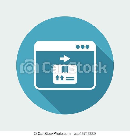 Courier website button - Vector flat icon - csp45748839
