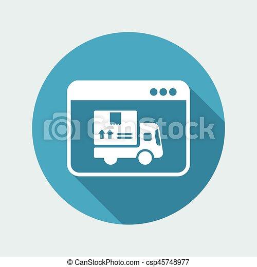 Courier website button - Vector flat icon - csp45748977