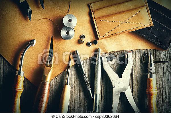 couro, crafting, ferramentas - csp30362664