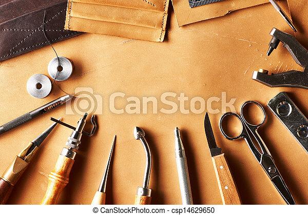 couro, crafting, ferramentas - csp14629650