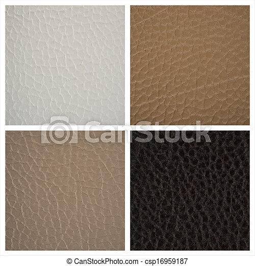 couro, fundos, textura - csp16959187