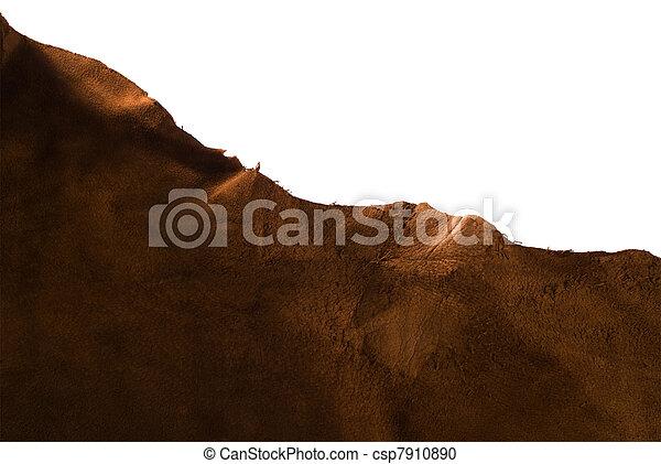 couro, marrom, animal, textura - csp7910890