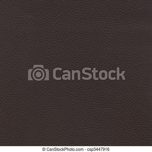 couro, marrom, textura - csp3447916
