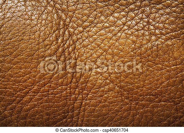 couro, marrom, textura - csp40651704