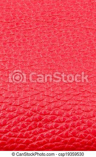 couro, textura, fundo, vermelho - csp19359530
