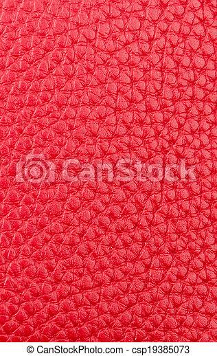 couro, textura, fundo, vermelho - csp19385073