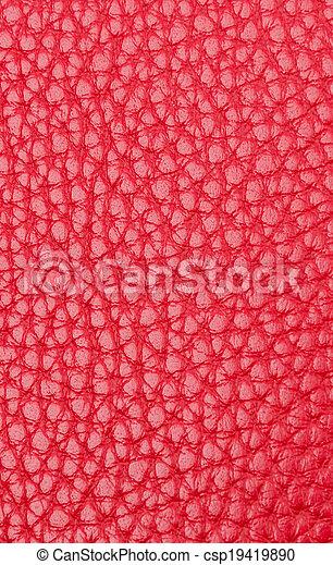 couro, textura, fundo, vermelho - csp19419890