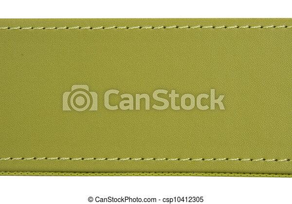 couro, verde, fio, costura - csp10412305
