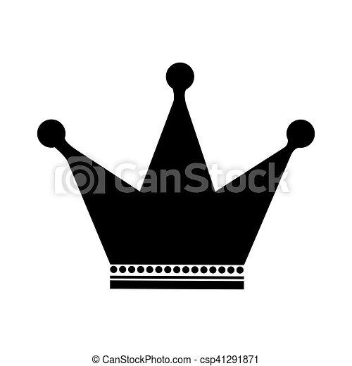 couronne, image, emblème, icône - csp41291871