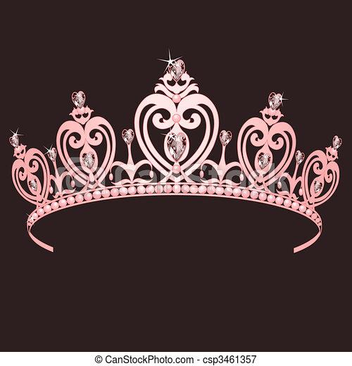 couronne, princesse - csp3461357