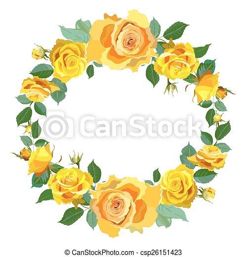 couronne roses fond jaune parfait fond couronne